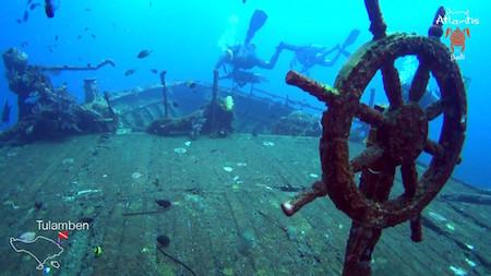 plongée à bali histoire d'épave